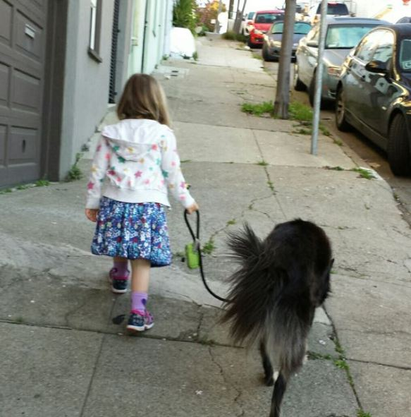 walking with Poppy